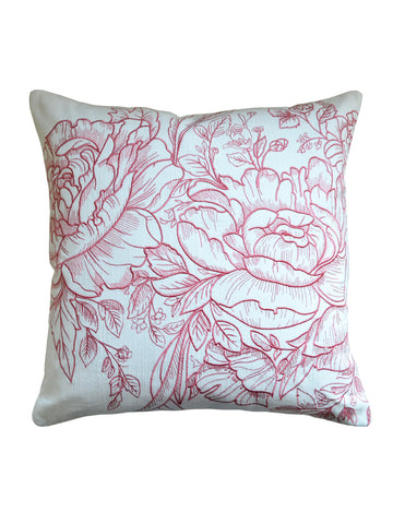 Camellia Embroidered Cushion