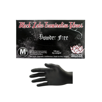 Black Latex Exam Gloves