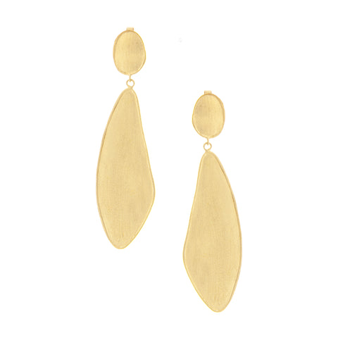 Satin Wavy Organic Earrings