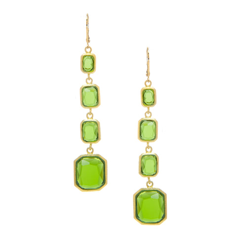 Peridot Multi Drop Earrings