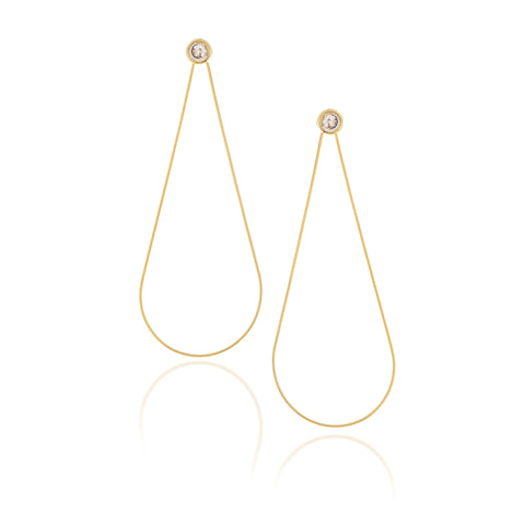 Simulated Diamond Teardrop Earring