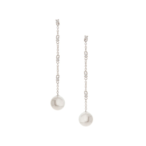 Cascading Chain Pearl Dangle