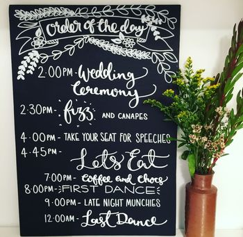 Blackboard Personalised Order Of The Day Sign