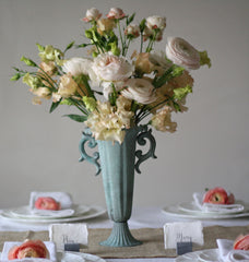 Tall Fluted Goblet Wedding Centrepieces available from @theweddingomd