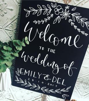 Personalised Blackboard Welcome Sign