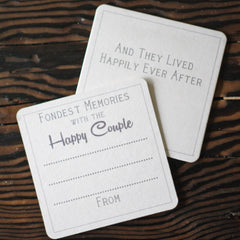 Fondest memories with the happy couple alternative wedding guest books. For Sale