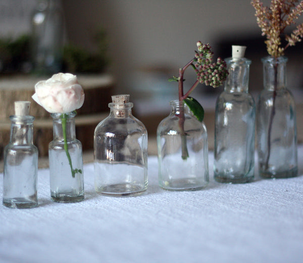Mini Glass Bottles With Cork Stopper - wedding decorations