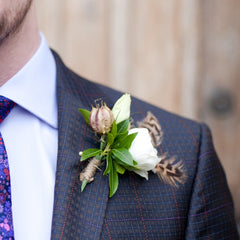 natural twine for wedding buttonholes