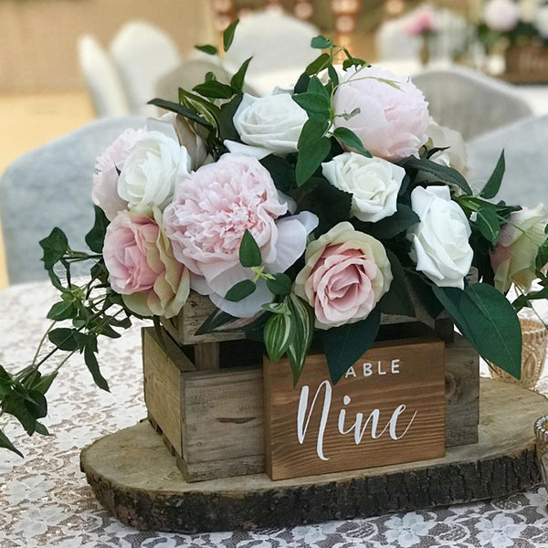 Wooden Crate Box Rustic Wedding Centrepiece