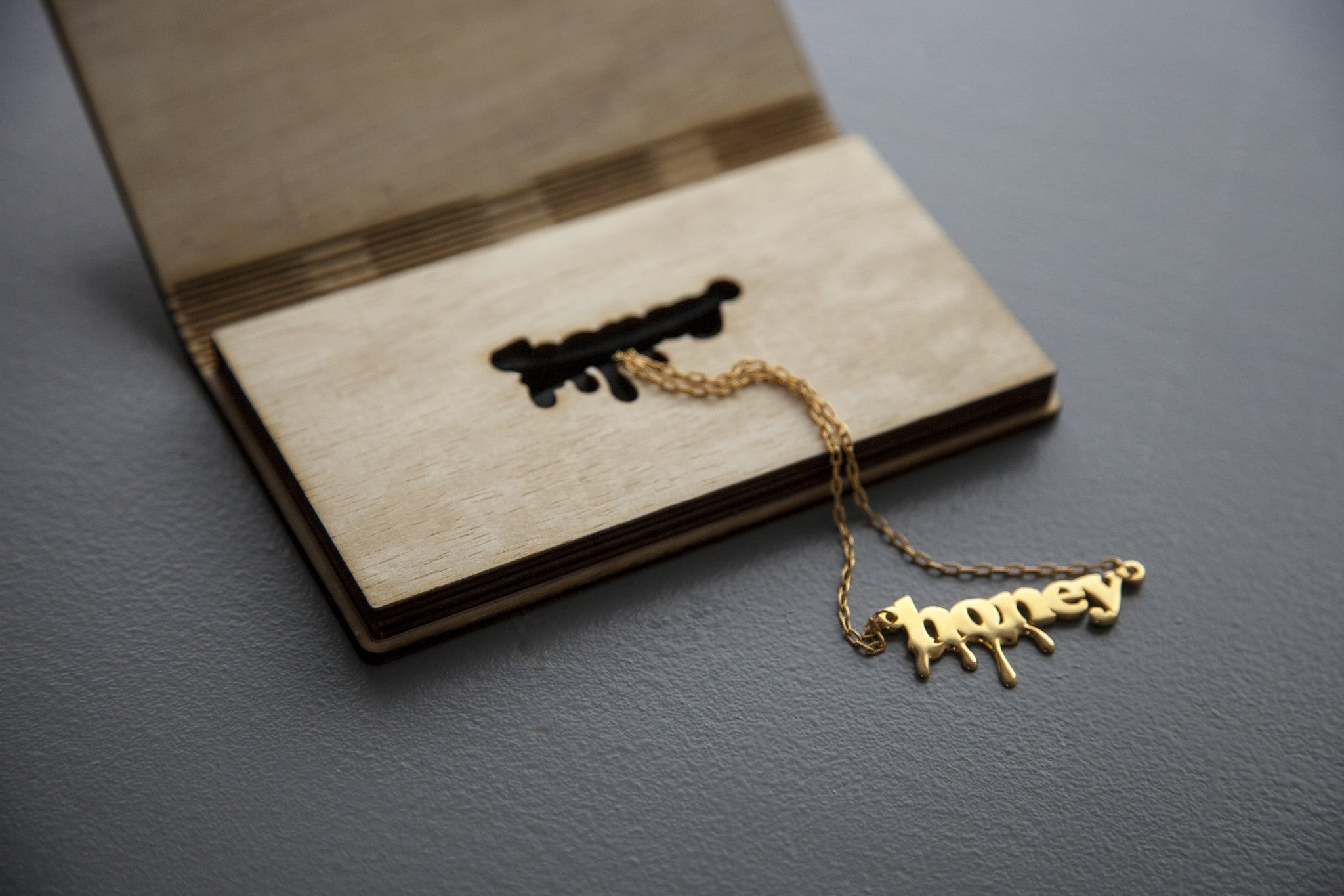 lasercut and handmade plywood case with natural-oil finish, designed by wndbr