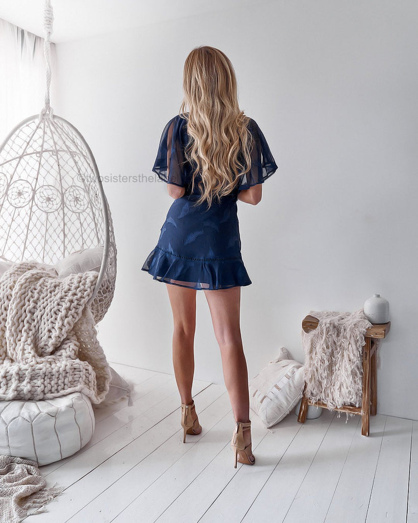 Kiera Dress - Navy