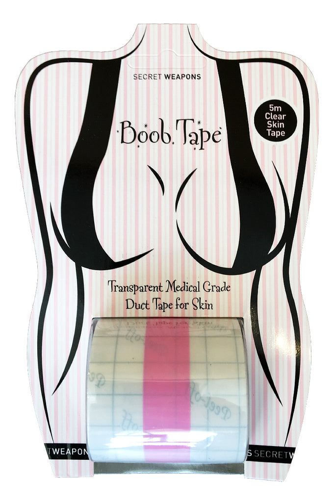 Boob Tape - Transparent Medical Grade Duct Tape for Skin
