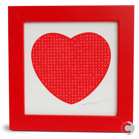 Framed Personalised Word Search Mini Print - Heart