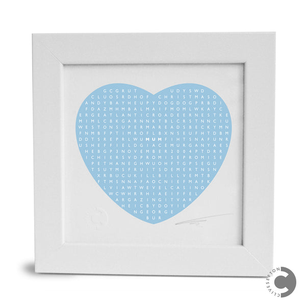 Framed Personalised Mother's Day Word Search Mini Print