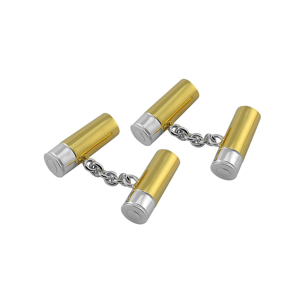 Sterling silver shotgun cartridge cufflinks - Cufflinks - StaaG®