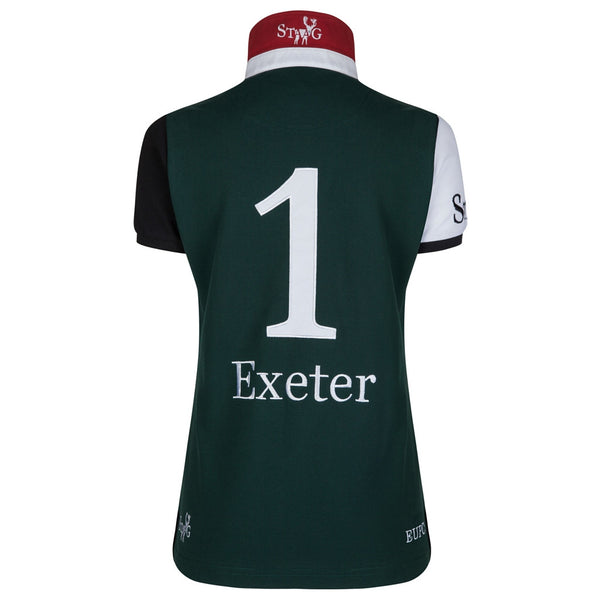 Exeter custom-fit green and white polo shirt (ladies) - Polo shirt - StaaG® - 2