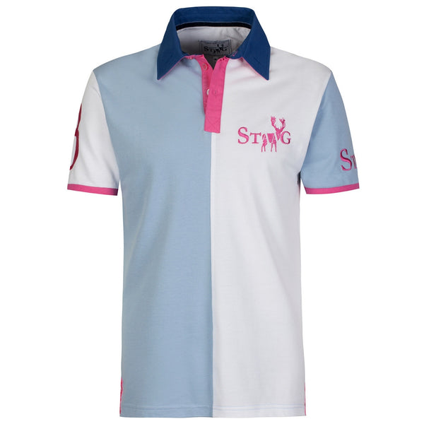 Nave II blue and white polo shirt - Polo shirt - StaaG® - 1