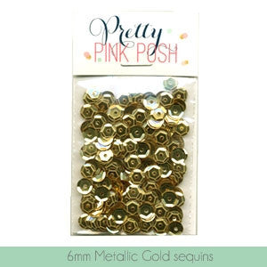 6mm Metallic Gold Cupped Sequins