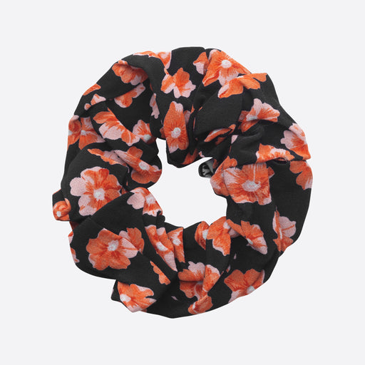 Ganni Lindale Crepe Scrunchie in Fiery Red
