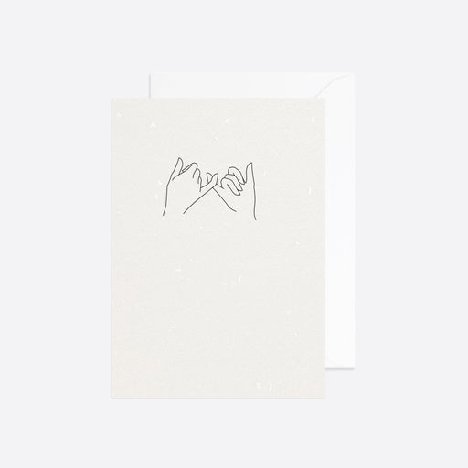 Reverie Studio Pinky Promise Card in White