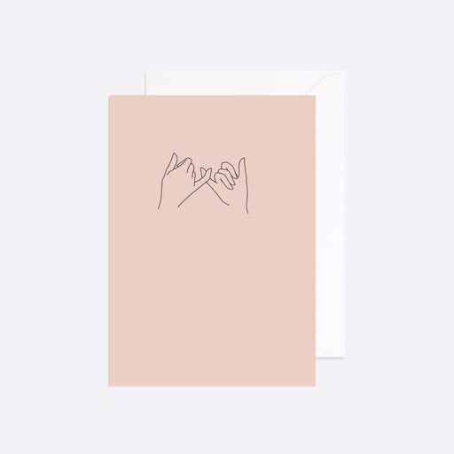 Reverie Studio Pinky Promise Card in Pink