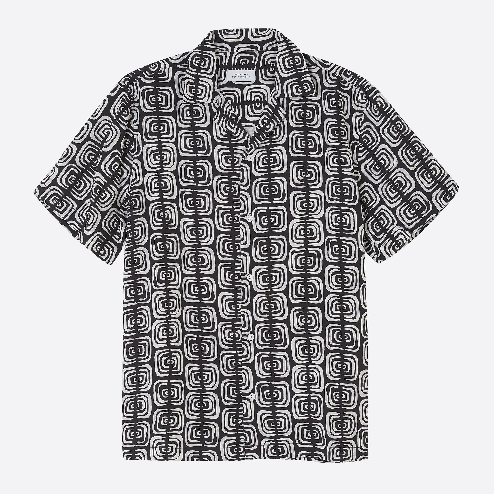 Saturdays NYC Canty Kuba Cloth Shirt in Black