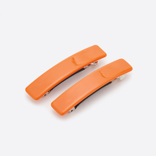 Valet Studio Evelyn Barrettes in Orange