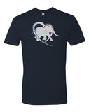 CompassionWorks International Navy Logo Tee