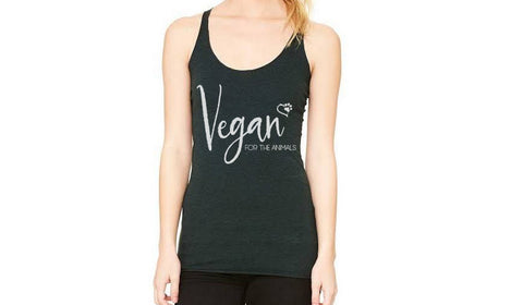 "Vegan For the Animals Tank in ""Emerald"""