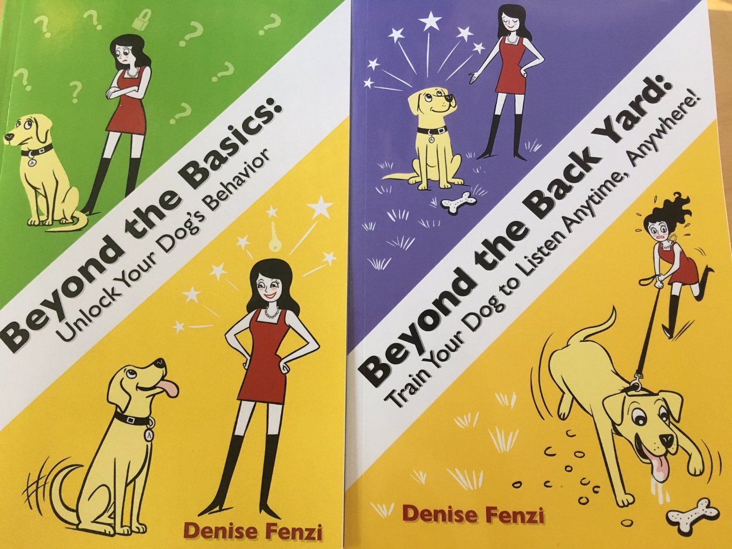 FOUR FENZI BOOK PACK:  Beyond The Back Yard,  Beyond The Basics, Train the Dog In Front of You AND Blogger Dog, Brito!