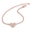 18ct Rose Gold  Vermeil Filigree Heart Bracelet