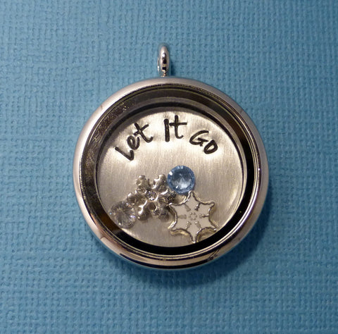 Frozen Inspired - Let It Go - A Floating Locket / Memory Locket / Living Locket