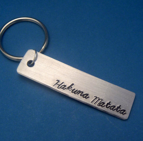 Lion King Inspired - Hakuna Matata - Hand Stamped Adjustable Keychain