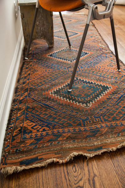 2.5x8 Antique Beshir Rug Runner - Old New House