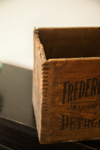 Art Deco Antique Frederick Stearns Apothecary Pharmacy Medical Wooden Crate - Old New House