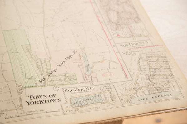 Vintage Hopkins Map of Town of Yorktown