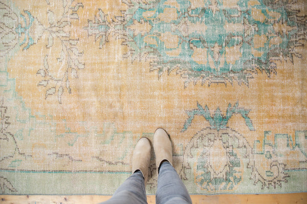 Vintage Distressed Oushak Carpet / Item 5247 image 2
