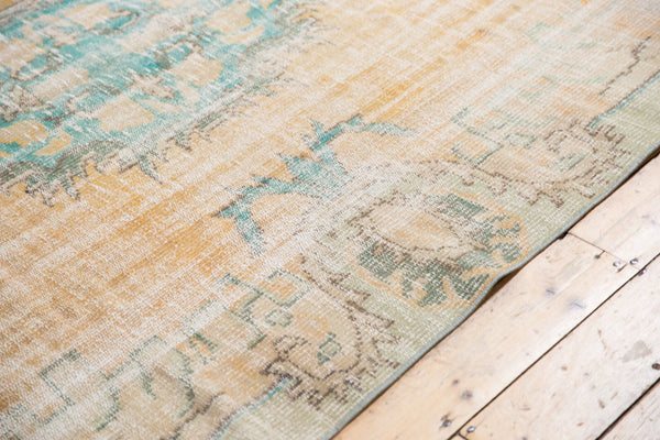 Vintage Distressed Oushak Carpet / Item 5247 image 7