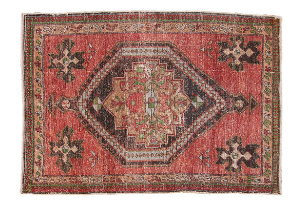 Vintage Distressed Oushak Rug / ONH item 6943