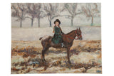 "Grace B. Keogh ""Riding in the Mist"" Painting"