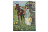 "Grace B. Keogh ""Woman and Horse"" Painting"