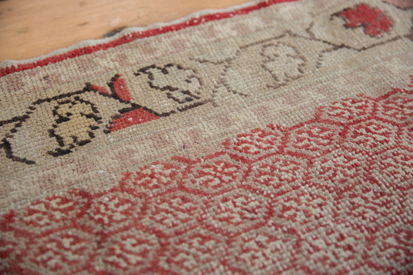 Vintage Distressed Oushak Rug Runner / Item ee003037 image 4