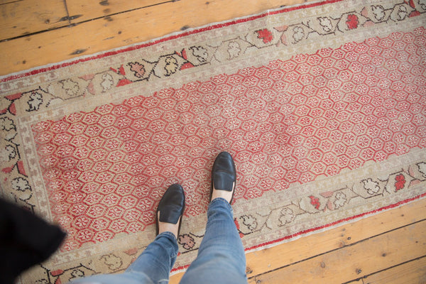 Vintage Distressed Oushak Rug Runner / Item ee003037 image 5