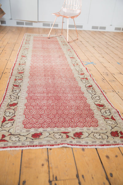 Vintage Distressed Oushak Rug Runner / Item ee003037 image 10