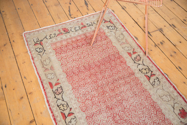 Vintage Distressed Oushak Rug Runner / Item ee003037 image 13