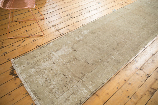 Vintage Distressed Oushak Rug Runner / Item ee003048 image 3
