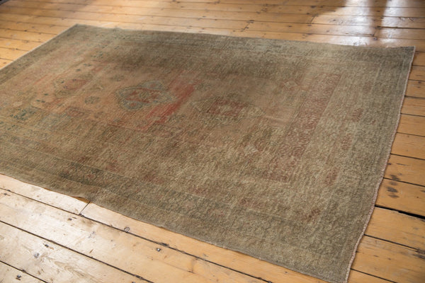 Vintage Distressed Oushak Carpet / ONH item ee003619 Image 7