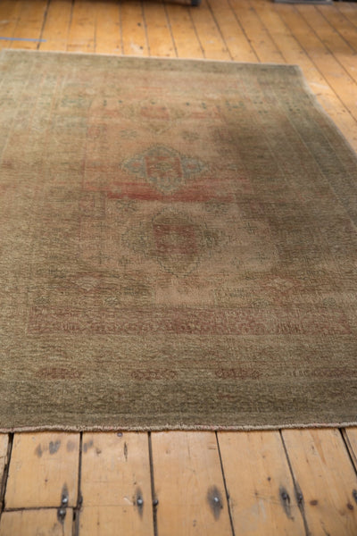 Vintage Distressed Oushak Carpet / ONH item ee003619 Image 9