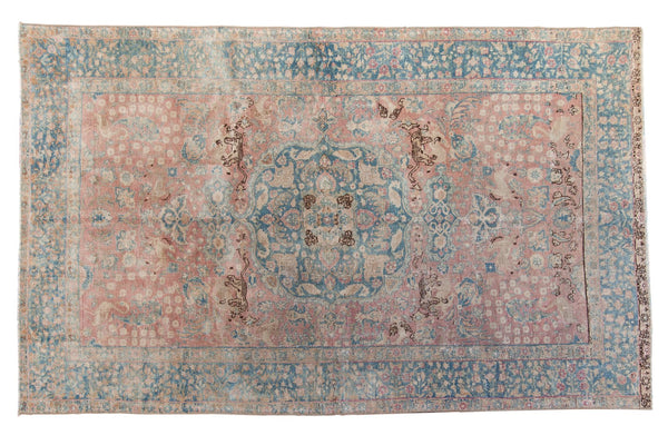 Vintage Distressed Tabriz Carpet / ONH item ee003638