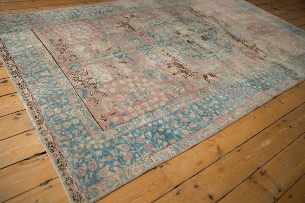 Vintage Distressed Tabriz Carpet / ONH item ee003638 Image 2